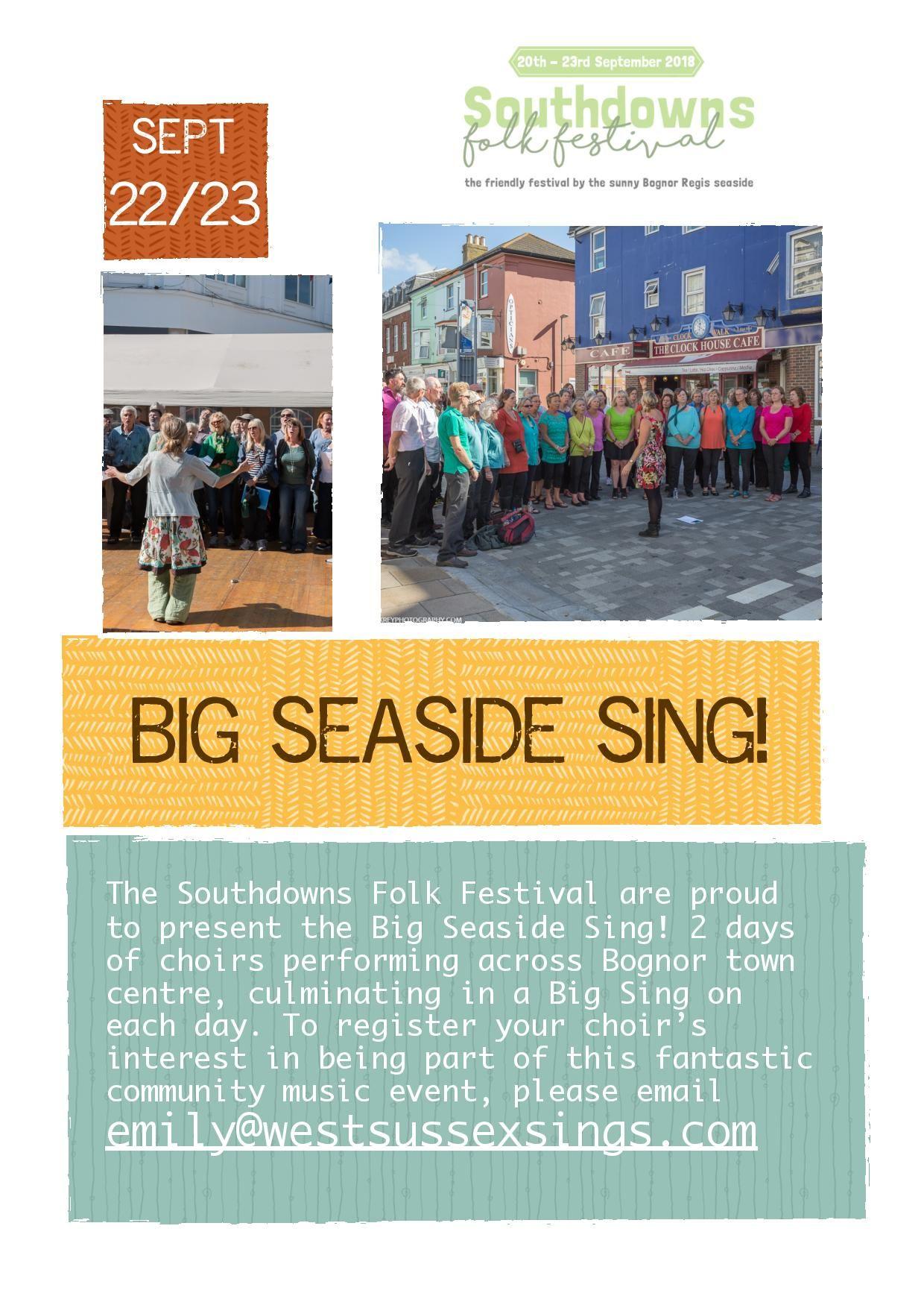 Big Seaside Sing poster