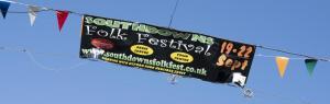 Folk Fest Sign